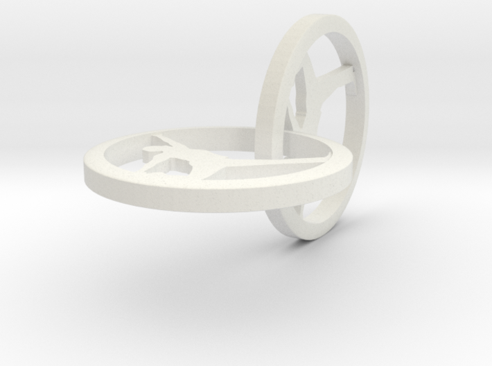 """Yoga Jewelry 2 hoop earring 1"""" approximately 3d printed"""