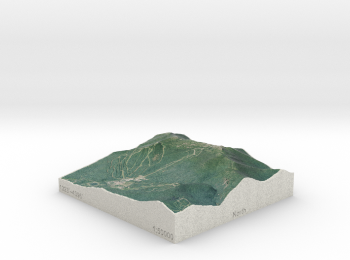 Mt. Mansfield, Vermont, USA, 1:50000 Explorer 3d printed