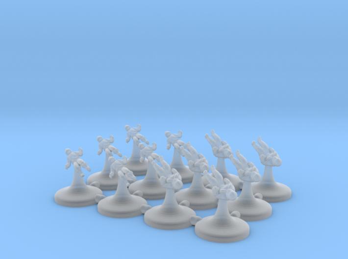 6x Rebel Pilots 6x Imperial Pilots (1/270) 3d printed