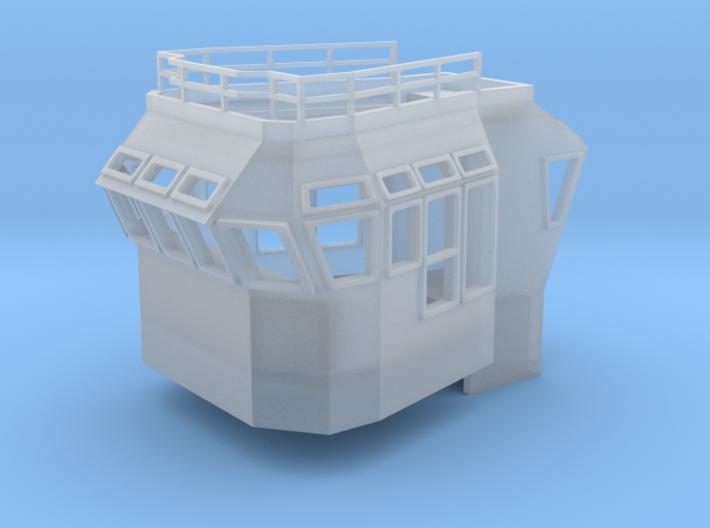 Bridge Supersructure 1/144 fits Harbor Tug 3d printed