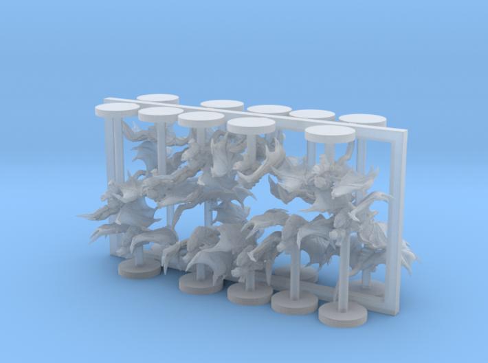 Alien Bug Bats 20 Models 3d printed