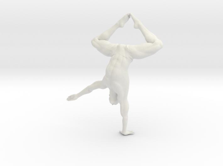 Male yoga pose 009 3d printed