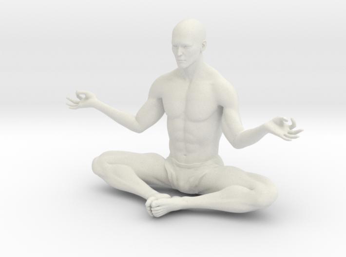 Male yoga pose 010 3d printed