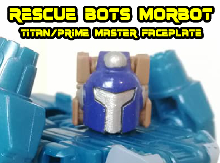 Morbot Face (Titans Return) 3d printed Hand painted Fud