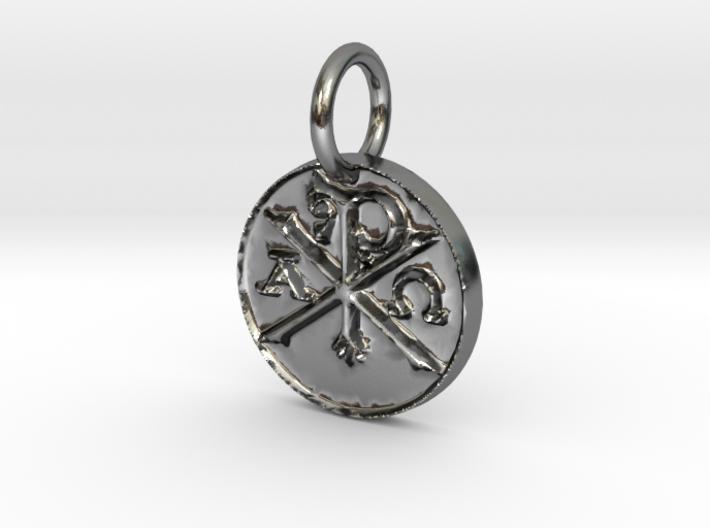 Chi Rho Coin Thin Edge 3d printed