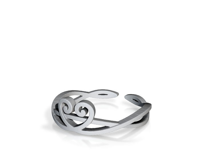 Heart vines Ring Size 7 3d printed