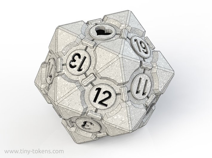 Spindown Companion Cube D20 - Portal Dice 3d printed