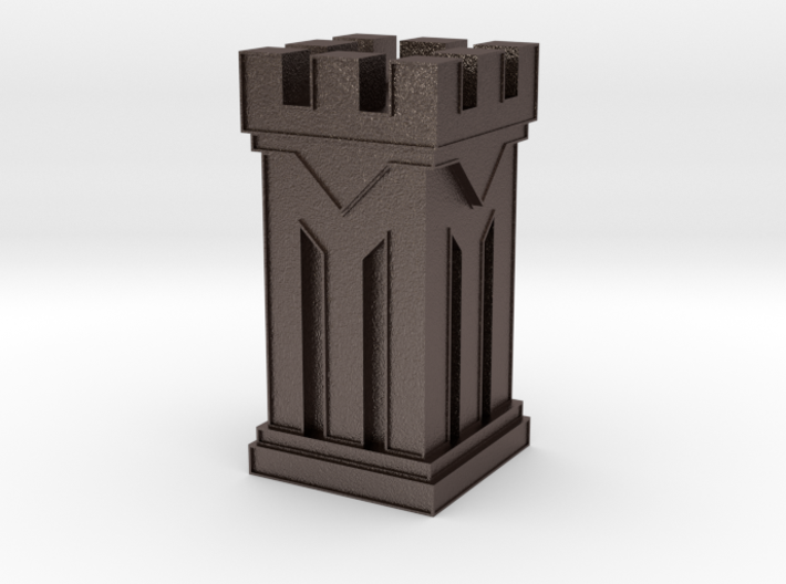 Metal Rook (small) 3d printed