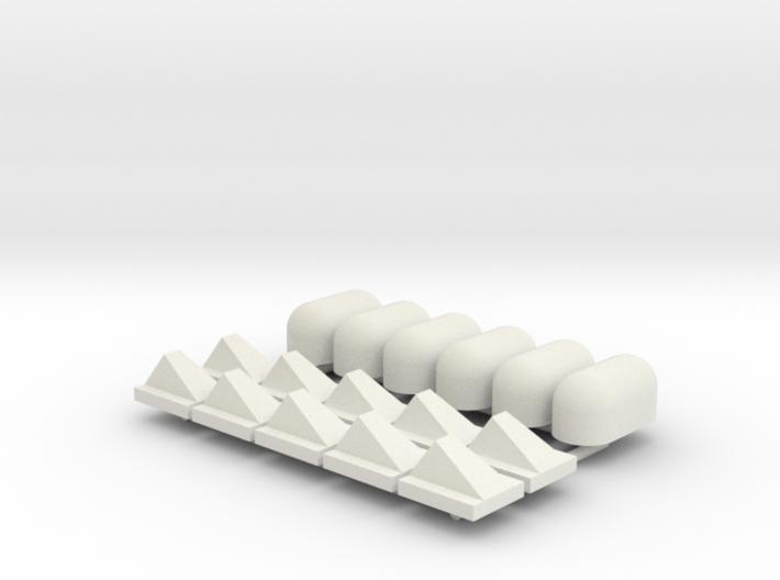 10st Schampblok en 6st Jumboblok 3d printed