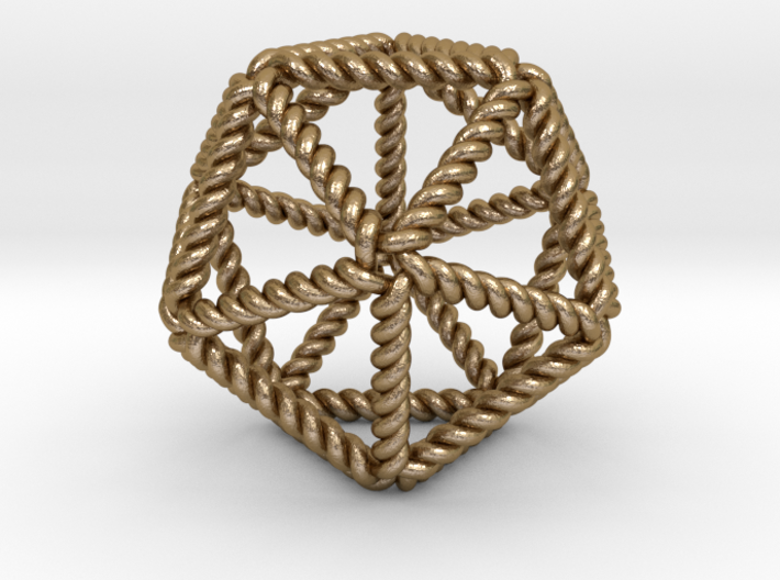 "Twisted Icosahedron RH 2"" 3d printed"