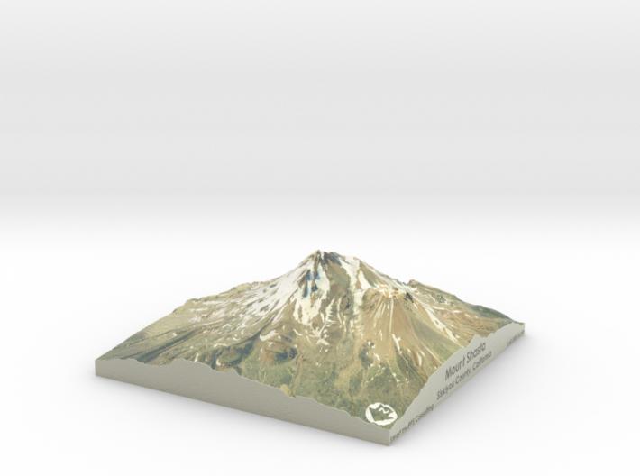 "Mount Shasta Map: 6""x6"" 3d printed"