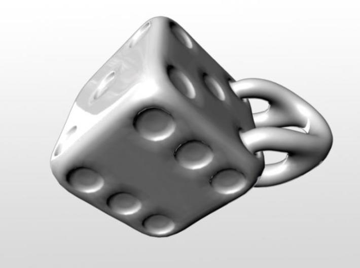 Six-Sided Die Mug 3d printed