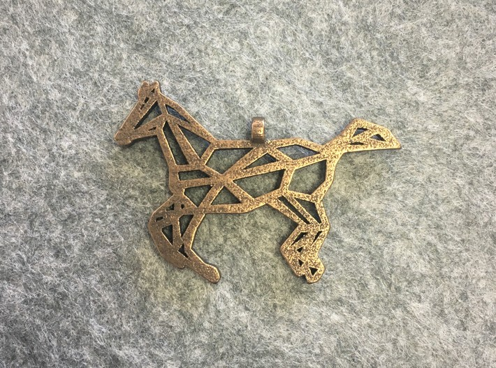 Horse Geometric Necklace 3d printed