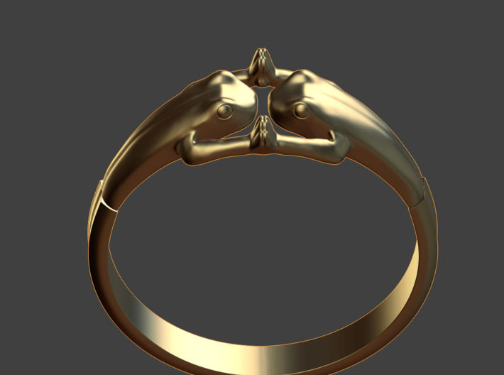 Frogs Ring size 8 3d printed front