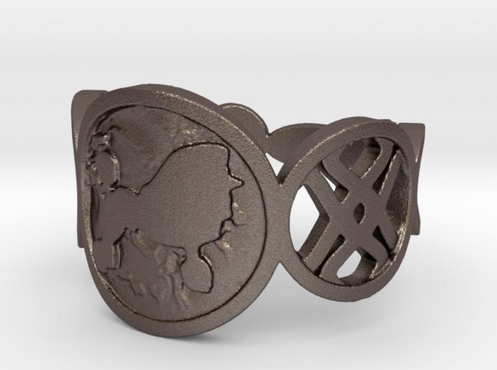 Poodle Ring 3d printed