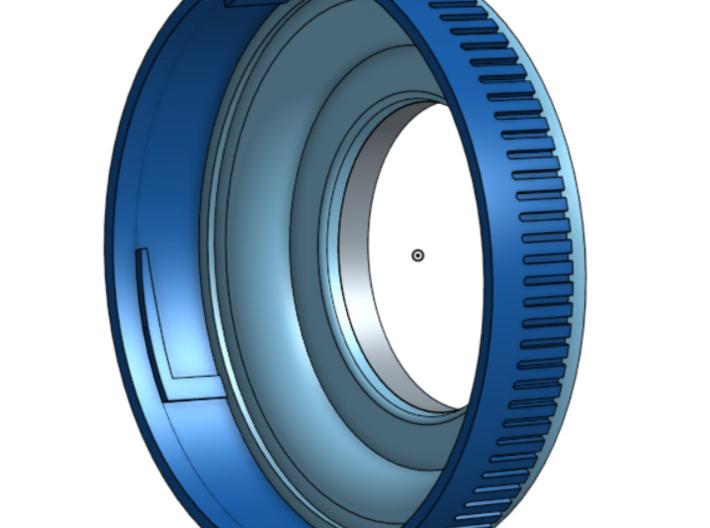 Zenza Bronica ETR To Pentax K-mount 3d printed cad render