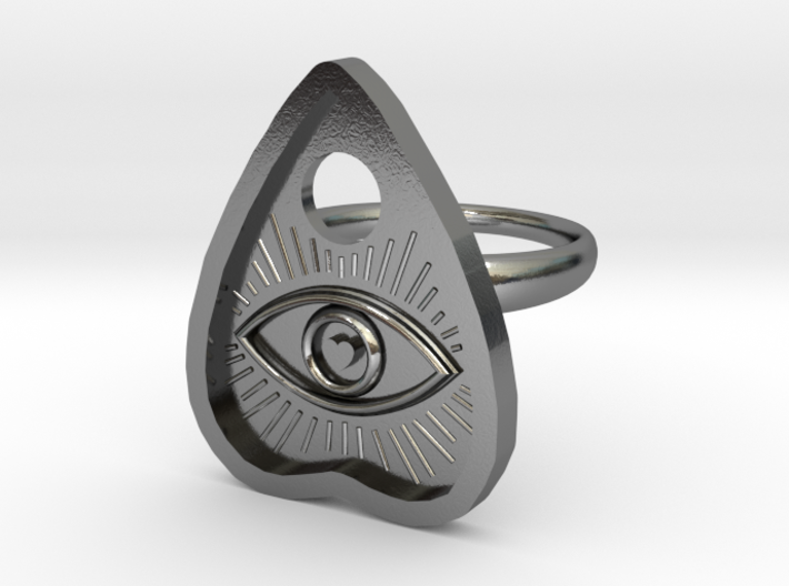 Eye of the Beholder Planchette ring size 8 3d printed