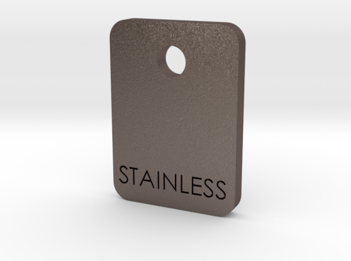 Stainless Sample Finish Chip 3d printed