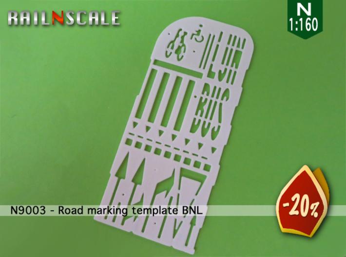 Road marking template BNL (N 1:160) 3d printed