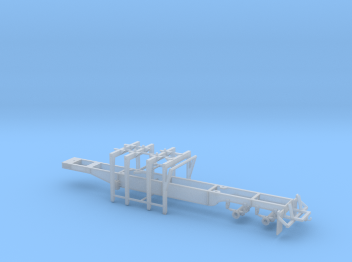 1/87th Pitts 4 bunk straight deck log trailer 3d printed