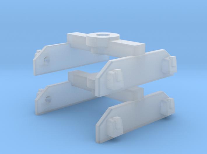 Brigadelok tender 0f bogies 3d printed