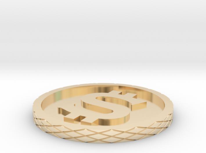Dollar Coin - Single Material 3d printed