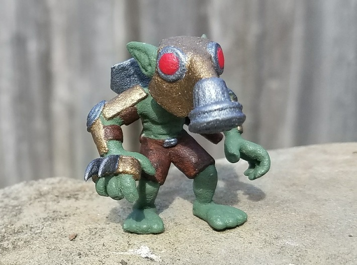 Gas Mask Goblin Trencher 3d printed