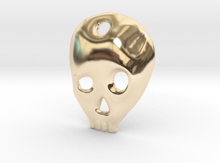 SKULL charm or pendant 3d printed