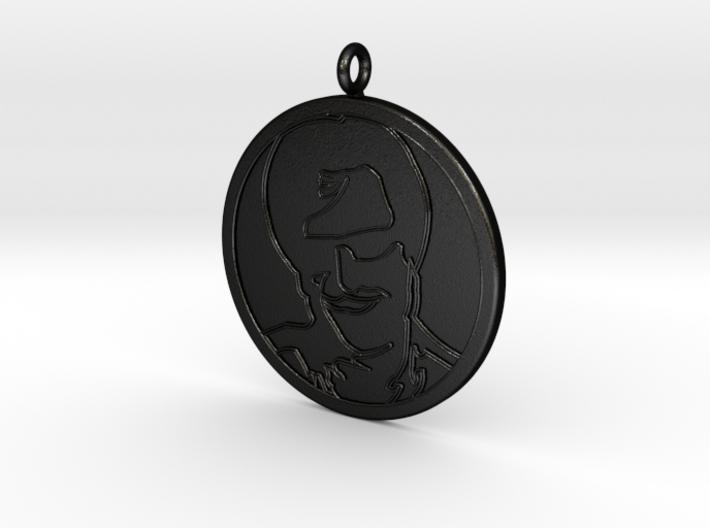Rajnikanth Pendant 3d printed