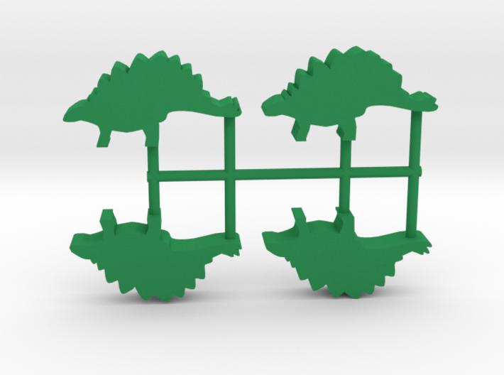 Dino Meeple, Stegosaurus 4-set 3d printed