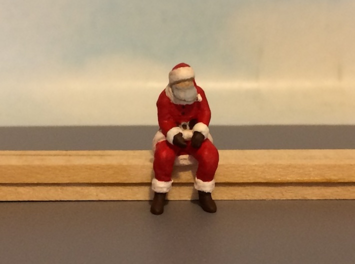 Santa Claus Sitting 3d printed