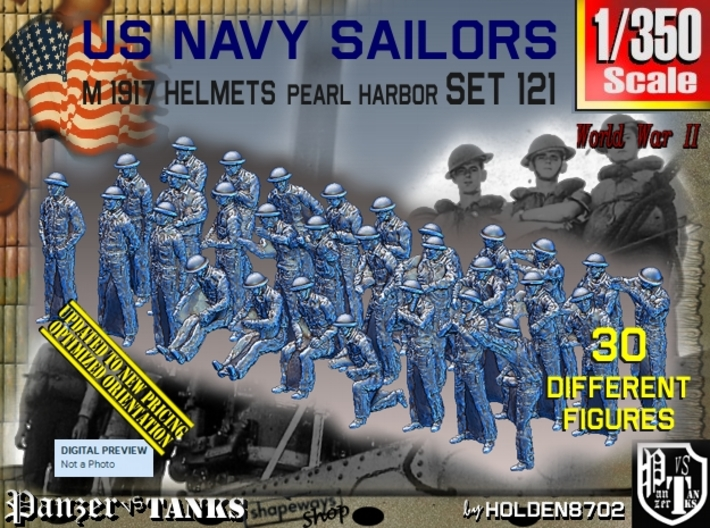 1/350 USN Pearl Harbor set 121 3d printed