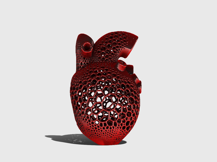 Anatomic Heart Candle Holder 3d printed