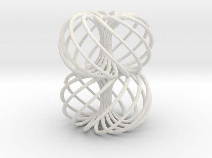 Double Spiral Torus 7/12, golden ratio 2 3d printed