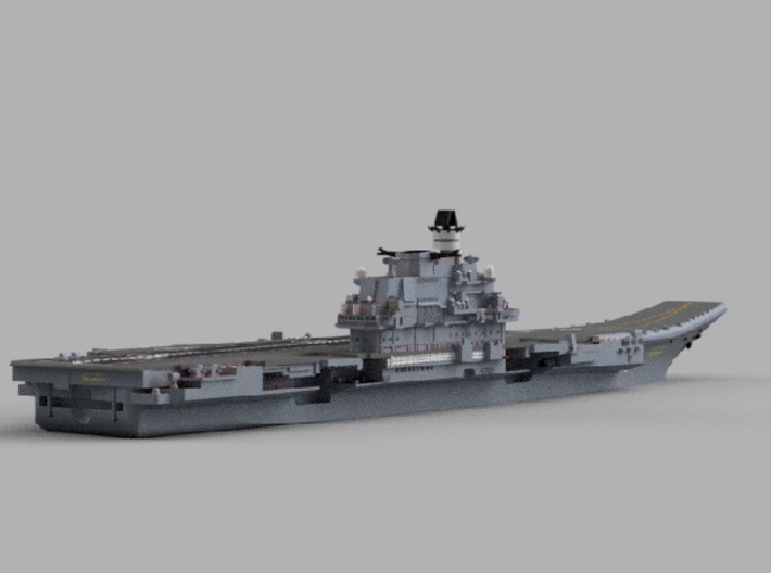 1/1800 RFS Admiral_Kuznetso 3d printed Computer software render.The actual model is not full color.