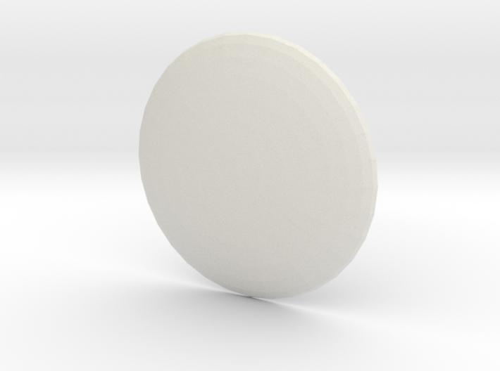Round Custom Symbol Shield, 5mm 3d printed