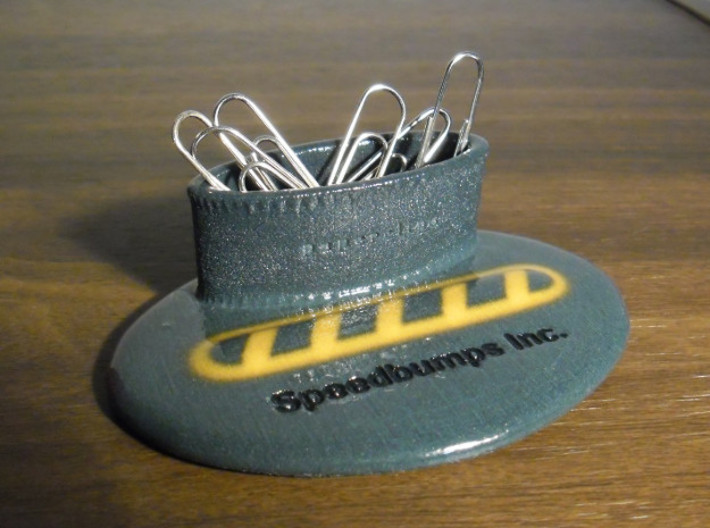 Speedbump Paperclips Holder (small) 3d printed Also available in  Full Color Sandstone