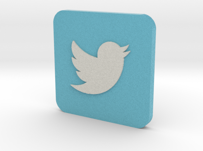 Twitter Logo on Rounded Square 3d printed