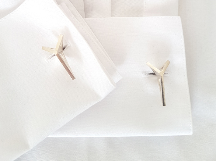 YOUNIVERSAL Origami 3T Cufflinks. Sharp Chic 3d printed