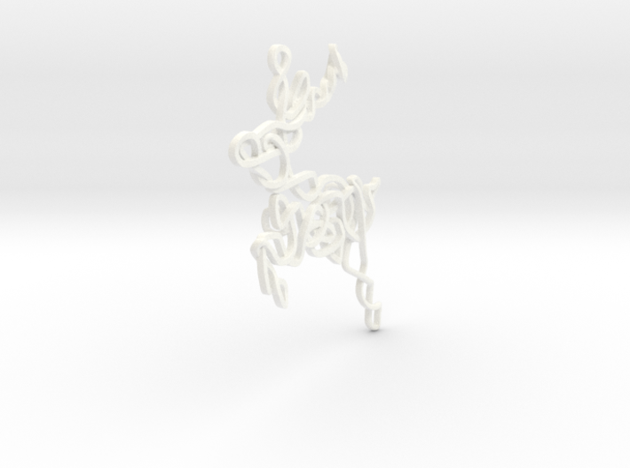 Celtic Knotted Reindeer Pendant/Ornament 3d printed