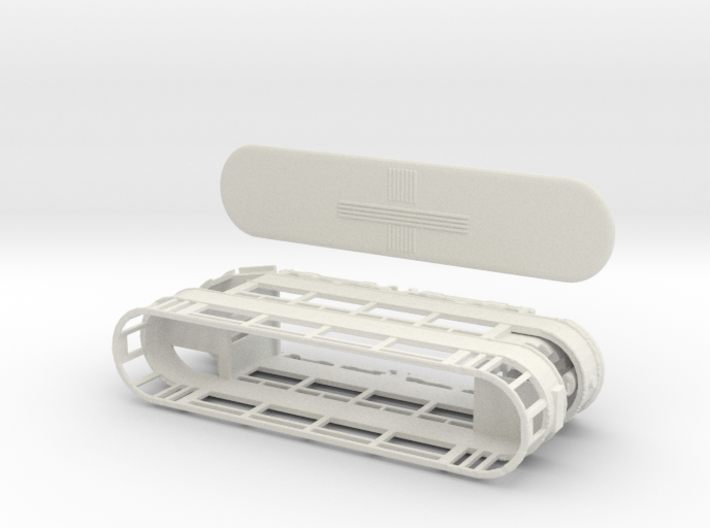 Lesney scale E1 tram open platforms 3d printed