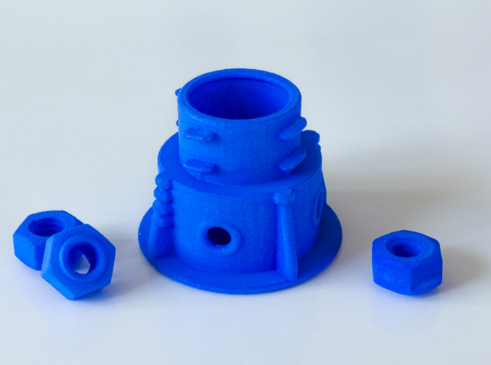 Panohero Foot with Hex Nuts 3d printed Foot with Hex Nuts 1/4-20 UNC