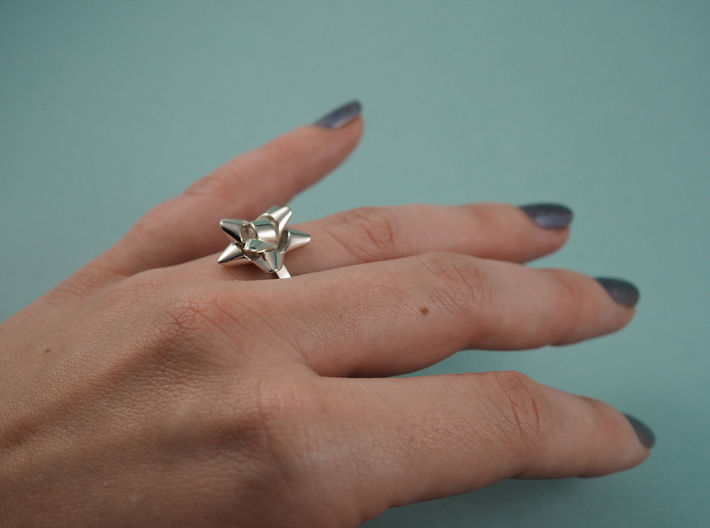 Gift Bow Ring 3d printed