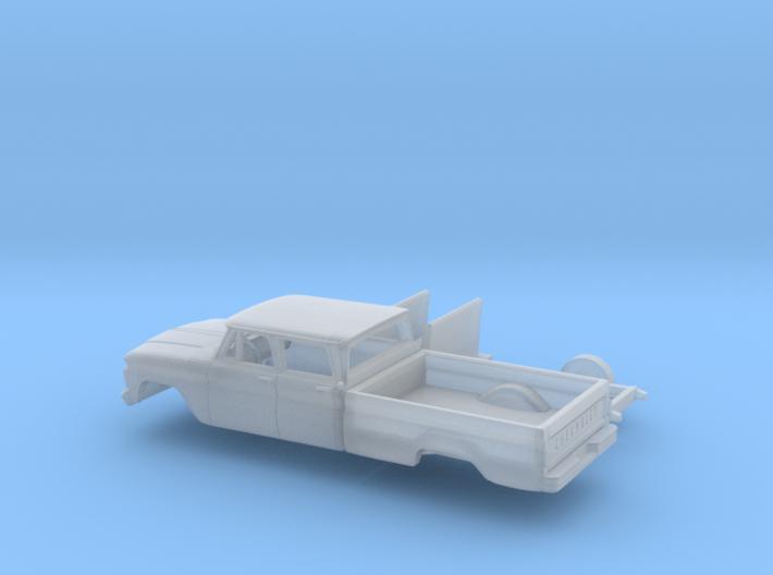 1/160 1963-66 Chevrolet C-20 Fleetside Crewcab Kit 3d printed