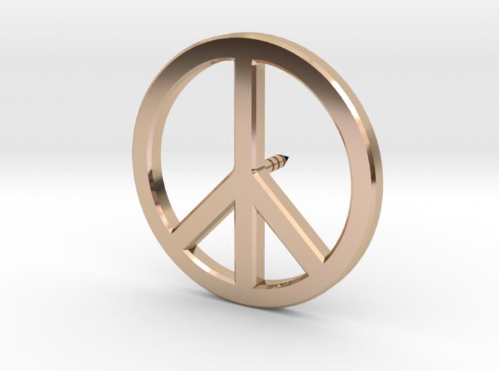 Peace Symbol Lapel Pin 3d printed