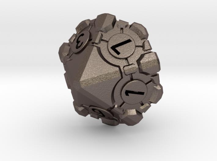 Companion Cube D10 - Portal Dice 3d printed