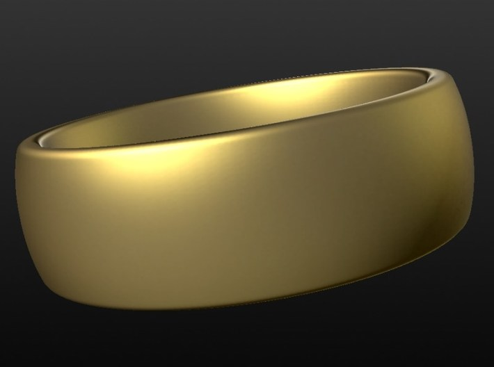 Wedding ring for male 20mm 3d printed