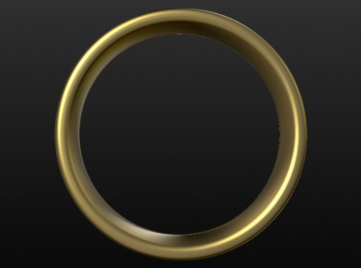 Wedding ring for male 19mm 3d printed