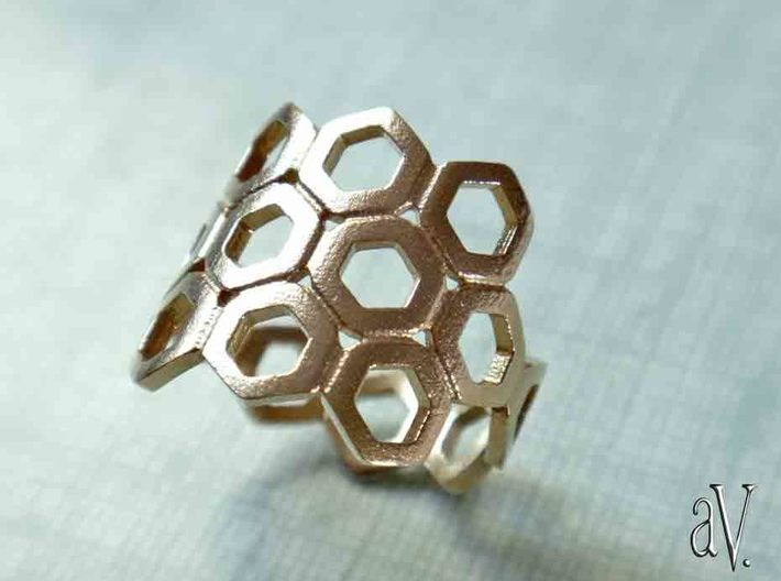 Bee Square 3S Ring 3d printed
