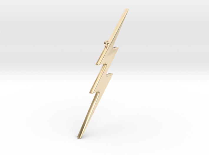 THE FLASH - Lightning Bolt Christmas Tree Ornament 3d printed